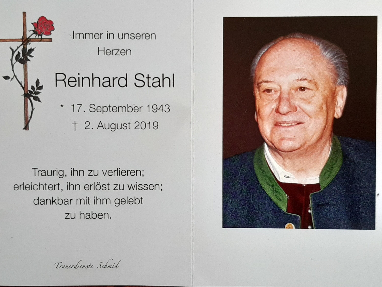 Bild von der Gedenkseite für Reinhard Stahl