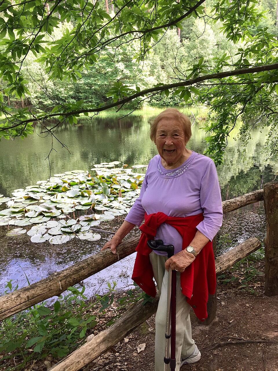Bild von der Gedenkseite für Irmgard Hopp